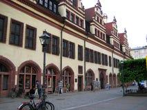老城镇厅的建筑大厦照片集市广场的,找出今天t的历史博物馆 免版税库存图片