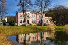 老城镇厅的建筑学在切布尼察 库存图片