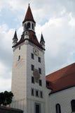 老城镇厅,慕尼黑塔  免版税库存照片