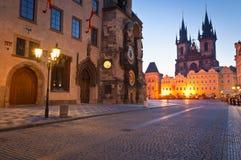 老城镇厅,我们的夫人Tyn,布拉格教会  免版税库存图片