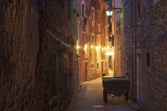 老城镇在克罗地亚 免版税库存照片