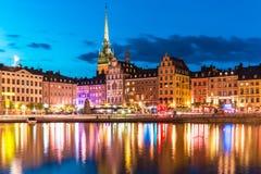 老城镇在斯德哥尔摩,瑞典 库存图片