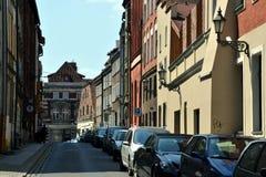 老城镇在ToruÅ (托伦),波兰 库存照片