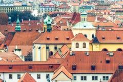 老城镇布拉格屋顶  免版税图库摄影