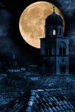 老城镇杜布罗夫尼克市在晚上 免版税库存照片