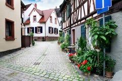 老城镇的街道 免版税库存照片
