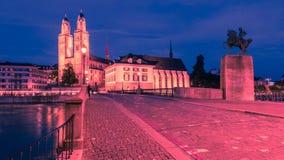 老城镇苏黎世 免版税图库摄影