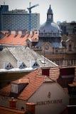 老城镇萨格勒布 免版税图库摄影