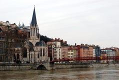 老城镇,利昂,法国 图库摄影