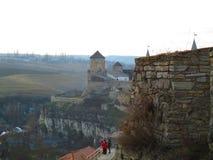 老堡垒和亚美尼亚本营, Kamenets Podolskiy,乌克兰 库存照片
