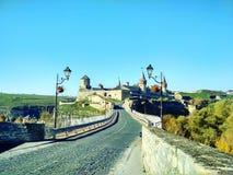 老堡垒和土耳其桥梁, Kamenets-Podolskiy,乌克兰 免版税库存照片