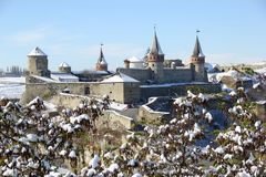 老堡垒在乌克兰 免版税库存照片