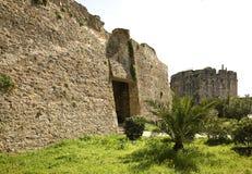 老堡垒在都拉斯 通风 免版税库存照片