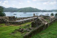 老堡垒在Portobelo巴拿马 免版税库存图片