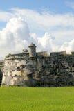 老堡垒墙壁在哈瓦那,古巴。 免版税图库摄影