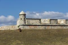 老堡垒墙壁 库存照片
