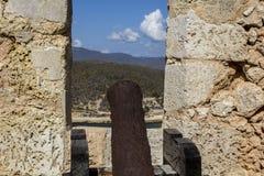 老堡垒墙壁 免版税库存照片