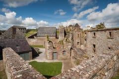 老堡垒废墟在Kinsale 免版税库存图片