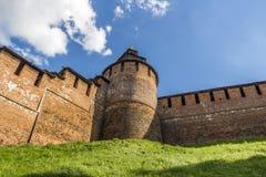 老堡垒的墙壁 免版税图库摄影