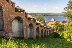 老堡垒的墙壁 库存图片