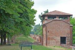 老堡垒的废墟 库存图片