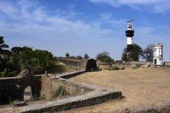 老堡垒的灯塔 图库摄影