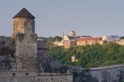 老堡垒石塔  库存图片
