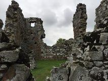 老堡垒碎屑,巴拿马废墟  免版税库存照片