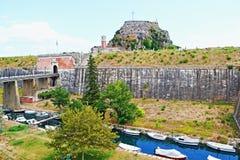 老堡垒科孚岛希腊 库存图片