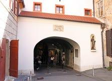 老堡垒门,萨格勒布 库存图片