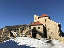 老堡垒鲁佩亚在冬天-罗马尼亚 图库摄影
