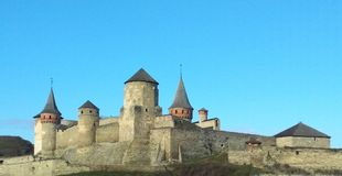 老堡垒, Kamenets波多尔斯基,乌克兰 免版税库存图片