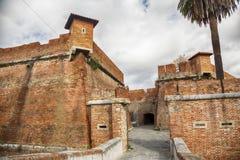 老堡垒Fortezza里窝那,意大利Nuova  图库摄影