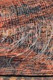 老塑料席子纹理抽象背景  库存照片