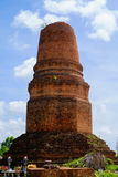 老塔顶面跌倒 免版税图库摄影
