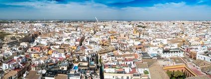 老塞维利亚,安达卢西亚,西班牙高的看法  免版税库存照片