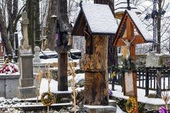 老墓地在Zakopane,波兰 免版税图库摄影