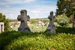 老墓地 库存照片