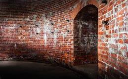 老墙壁是塔楼。 库存图片