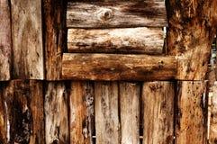老墙壁木头 图库摄影