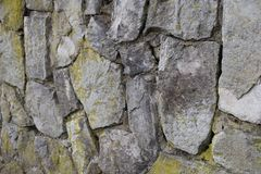 老墙壁的片段 免版税图库摄影