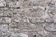 老墙壁的纹理从一块石砖的 免版税库存照片