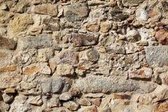 老墙壁石头纹理,阿维拉墙壁,西班牙 库存图片