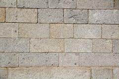 老墙壁石头纹理,阿维拉墙壁,西班牙 免版税库存图片