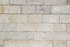 老墙壁石头纹理,阿维拉墙壁,西班牙 免版税图库摄影