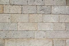 老墙壁石头纹理,阿维拉墙壁,西班牙 库存照片