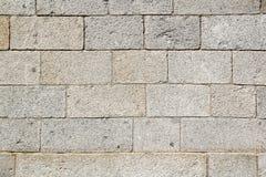 老墙壁石头纹理,阿维拉墙壁,西班牙 免版税库存照片