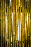 老墙壁竹子纹理  免版税库存图片