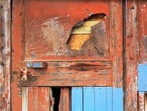 老墙壁褐色木纹理 免版税库存照片