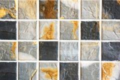 老墙壁陶瓷砖样式从泰国公众手工造 库存照片